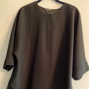 Black Blouse with Criss Cross Back Panels - Size M